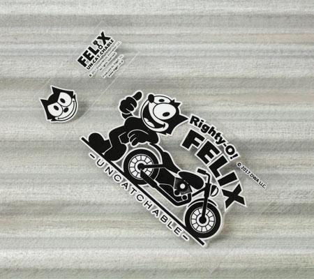 フィリックス・ザ・キャット ステッカー 車 バイク ヘルメット アメリカン フィリックス グッズ 雑貨 キャラクター おしゃれ かっこいい 猫 カーステッカー FELIX THE CAT 転写タイプ Righty-O! 【メール便OK】_SC-FLJ001RO-DGT