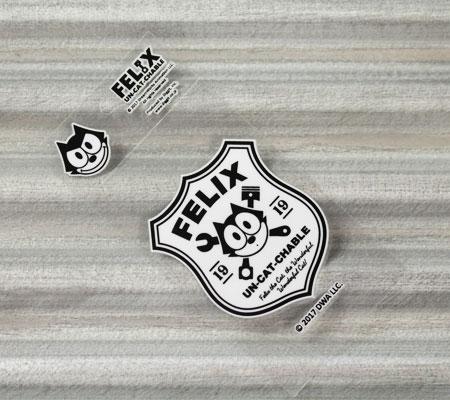 フィリックス・ザ・キャット ステッカー 車 バイク ヘルメット アメリカン フィリックス グッズ 雑貨 キャラクター おしゃれ かっこいい 猫 カーステッカー FELIX THE CAT 転写タイプ Sign 【メール便OK】_SC-FLJ001SN-DGT