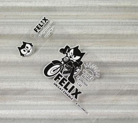 フィリックス・ザ・キャット ステッカー 車 バイク ヘルメット アメリカン フィリックス グッズ 雑貨 キャラクター おしゃれ かっこいい 猫 カーステッカー FELIX THE CAT 転写タイプ Wink 【メール便OK】_SC-FLJ001WK-DGT