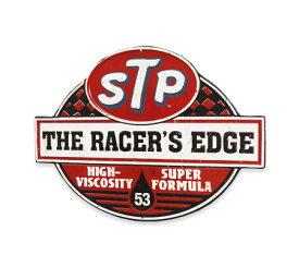 STP 看板 サインプボード サインプレート アンティーク レトロ アメリカン おしゃれ 壁 飾り インテリア雑貨 ガレージ かっこいい ウォールデコ アメリカン雑貨 US EMBOSSED SIGN STP RACER'S EDGE_SP-STP002-UNT