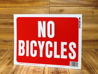 サインプレート(案内表示板)自転車禁止サイズS