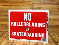 サインプレート(案内表示板)ローラーブレード、スケートボード禁止サイズS