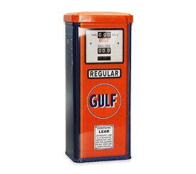 小物入れ 収納 おしゃれ かっこいい ブリキ缶 アンティーク アメリカ アメリカン雑貨 ティンボックス GAS PUMP TIN CAN CASE GULF ガルフ_SR-026429-SPS