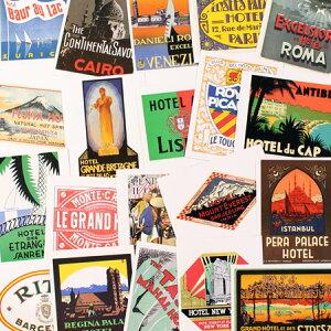 ステッカー セット スーツケース 旅行カバン トラベルステッカー レトロ 20枚セット ホテル ラゲージラベル GRAND HOTELS 【メール便OK】_SC-211714-HYS