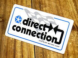 ステッカー 車 モパー アメリカン おしゃれ バイク ヘルメット かっこいい アメ車 カーステッカー 復刻 クライスラー MOPAR Direct Connection サイズS 【メール便OK】_SC-DD634-MON