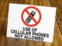 サイン&ラベルミニステッカー/「携帯電話使用禁止」A