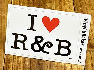 ステッカー 車 アメリカン アイラブ おしゃれ バイク ヘルメット かっこいい カーステッカー 愛してる I LOVE R&B 【メール便OK】_SC-IL008-GEN