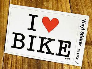 ステッカー 車 アメリカン アイラブ おしゃれ バイク ヘルメット かっこいい カーステッカー 愛してる I LOVE BIKE バイク 【メール便OK】_SC-IL019-GEN