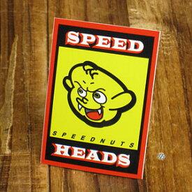 ステッカー 車 アメリカン おしゃれ バイク ヘルメット スケートボード スノーボード かっこいい カーステッカー スピードナッツ SPEEDNUTS 悪魔 デビル SPEED HEADS 【メール便OK】_SC-SPD007-SXW