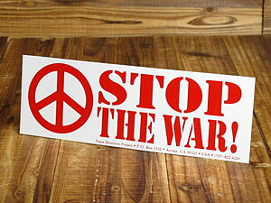 ステッカー 反戦 平和 車 アメリカン おしゃれ バイク ヘルメット かっこいい カーステッカー STOP THE WAR! 「戦争をやめよう!」 【メール便OK】_SC-BS001-GEN