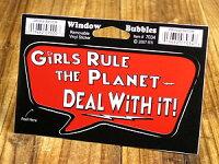 バブルステッカー/7034/この世は女性のものですから従いなさい!