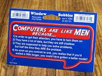バブルステッカー/7064/コンピューターは男性みたい。なぜなら、、