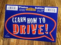 バブルステッカー/7069/運転の仕方を学べ!