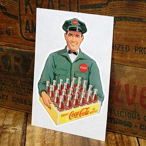 コカコーラ ステッカー グッズ 車 アメリカン おしゃれ バイク ヘルメット かっこいい カーステッカー Delivery Coke 【メール便OK】_SC-CCBA7-LFS