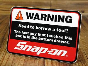 スナップオン(Snap-on)ステッカー/WARNING