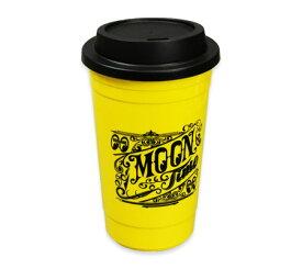 ムーンアイズ タンブラー プラカップ プラスチックカップ マグカップ おしゃれ コーヒー ふた付き アメリカン ホットロッド 車 バイク ガレージ MOONEYES MOON TIME カフェカップ_TW-MG846YE-MON