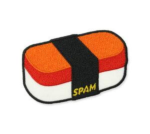 スパム SPAM ワッペン アイロン アメリカン アメカジ おしゃれ かわいい 面白い ジャケット トートバッグ アメリカン雑貨 ロゴ SUSHI 【メール便OK】_WP-192971-UNT
