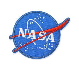 NASA ワッペン アイロン アメリカン アメカジ おしゃれ かっこいい 宇宙 ジャケット トートバッグ アメリカン雑貨 Embroidery Patch ミートボール Insignia 【メール便OK】_WP-NFC001IA-DGT