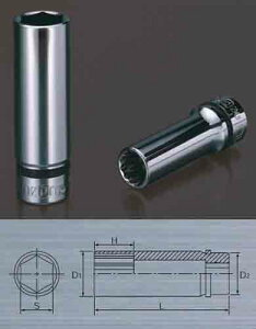 KTC NB3L-10W ネプロス 9.5sq ディープソケット (十二角)