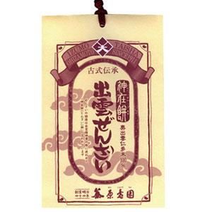 出雲ぜんざい1食分【出雲市・原寿園】紅白の仁多米餅と一緒に縁起もの出雲ぜんざい