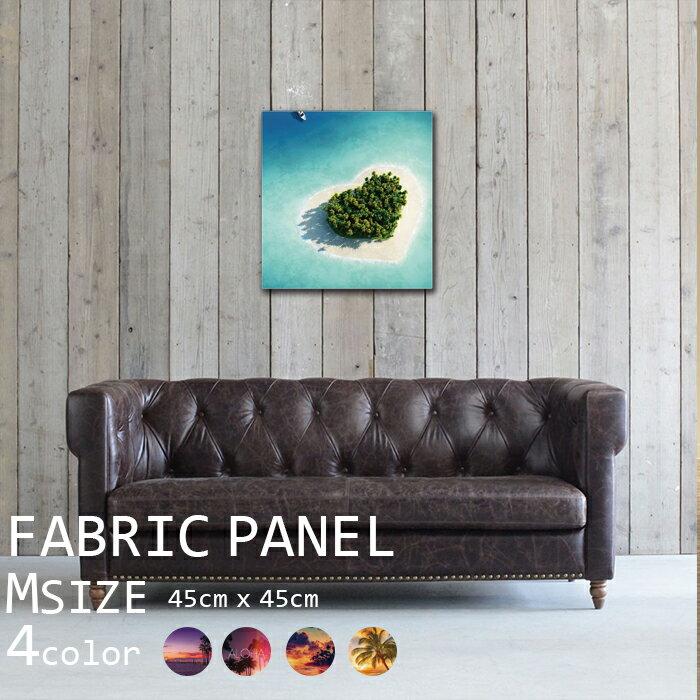 インテリア アートパネル ファブリックパネル 45x45cm 壁掛け アートフレーム DIY オシャレ サーフィン 波 ヨット 海 ビーチ