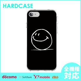 iphone8 スマホケース 全機種対応 カバー iPhone ハードケース iPhone7 iphone6 iPhone7ケース アイフォン アイフォン7 Xperia XperiaZ5 XperiaZ3 GALAXY ARROWS AQUOS クリア クリアケース スマイル にこちゃんマーク かわいい マーク スマホカバー