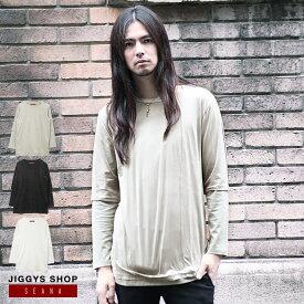 ◆SEANA(シーナ)カットスエードレイヤードTシャツ◆ロンT メンズ Tシャツ おしゃれ 長袖Tシャツ ロンティー カットソー トップス 重ね着風 V系 ヴィジュアル系 ファッション モード系 ビジュアル系
