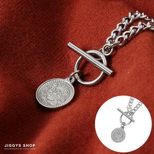 ◆コインネックレス◆ネックレス メンズ シンプル ブランド カップル ペア シルバー チェーン プレゼント ギフト 男性 彼氏 父 誕生日