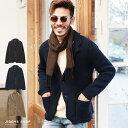 ◆綿ニットテーラードジャケット◆テーラードジャケット メンズ ジャケット アウター メンズファッション 春 春服 春物 ニット ニットアウター カーディガン 綿100% 綿 ブラック ベージュ ネイビー