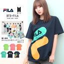 【送料無料】FILA BTS コラボ tシャツ メンズ ブランド◆FILA(フィラ)×BTS(防弾少年団)コラボ プリントTシャツ◆半袖…