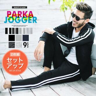 装置人运动衫Parker跑步者裤子上下◆运动衫装置◆体育漂亮的房间服装锥形裤子秋天衣服秋季商品秋天