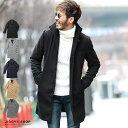 ◆roshell(ロシェル)メルトンイタリアンカラーコート◆コート メンズ ウール メルトン ジャケット アウター ロングコ…