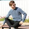 ◆roshell (Rochelle) pigment Kanoko knitting crew knit ◆ knit sweater men knit sweater tops crew neck U neck Kanoko knitting men fashion autumn clothing autumn clothes winter clothing winter clothes