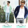 ◆Roshell color knit Cardigan◆ Cool style/ school student cardigan/long sleeves cardigan/ men's knit/ spring summer item/ large size/ men's fashion