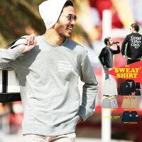 ◆roshell(ロシェル)プリントトレーナー◆おしゃれスエットスウェットメンズファッションサーフ系白黒秋冬裏毛プリント長袖ロゴ