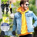 ◆roshell(ロシェル)スーパーストレッチGジャン◆デニムジャケット メンズ ジージャン Gジャン ジャケット カジュアル…