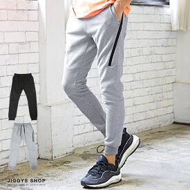 ◆roshell(ロシェル)切り替えZIPスウェットパンツ◆ジョガーパンツ スウェットパンツ メンズ おしゃれ スウェット 下 ダンス パンツ ボトムス メンズファッション グレー ブラック