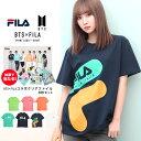 【送料無料】FILA BTS コラボ tシャツ メンズ ブランド◆FILA(フィラ)×BTS(防弾少年団)コラボ プリントTシャツ◆クル…