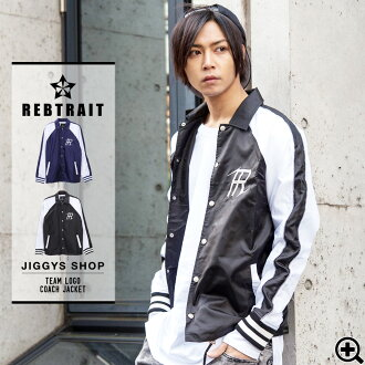 • REBTRAIT (reboutreito) teamlogosca coach jacket. • coach jacket blouson ryuko skater jackets men's street of Harajuku Korea fashion bamboo-brand clothing fall clothes