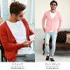 Cardigan men cardigan ◆ cotton color knit cardigan ◆ cardigan knit cardigan long thin plain long sleeves cotton black business casual student autumn clothes
