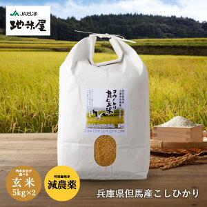 新米 減農薬 無化学肥料 送料無料 玄米 10kg 5kg×2袋 食べる健康!食べる貢献!生命を育むお米 コウノトリ育むお米 有機 肥料 西日本 但馬産 特A 米 玄米カイロ 妊活 たまごクラブ 提供