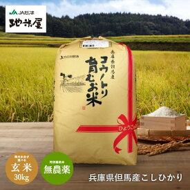新米予約 無農薬 玄米30kg 無化学肥料 米 生命を育むお米 無農薬米 コウノトリ育むお米 無農薬玄米 送料無料 玄米 無農薬米 有機 肥料 コシヒカリ 西日本 兵庫県 但馬産 特A 令和3年産