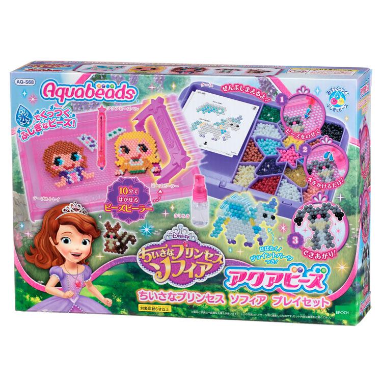 AQ-S68 アクアビーズ ちいさなプリンセス ソフィア プレイセット おもちゃ [CP-AQ] 誕生日 プレゼント 子供 ビーズ 女の子 男の子 5歳 6歳 ギフト