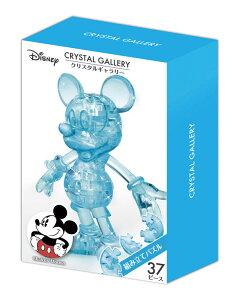 HAN-07601 ディズニー クリスタルギャラリー ミッキーマウス 37ピース 立体パズル ギフト 誕生日 プレゼント 透明パズル 立体パズル