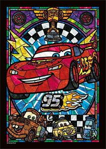TEN-DSG266-956 ディズニー ライトニング・マックィーン ステンドグラス (カーズ)  266ピース ステンドアートジグソーパズル