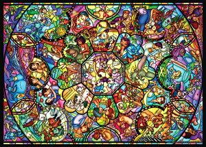 TEN-D500-457 ディズニー オールスターステンドグラス(オールキャラクター) 500ピース ジグソーパズル