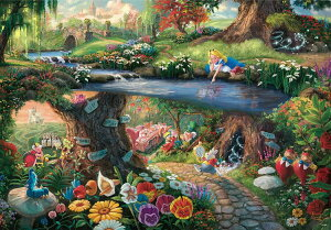 TEN-D1000-490 ディズニー Alice in Wonderland(不思議の国のアリス) 1000ピース ジグソーパズル パズル Puzzle ギフト 誕生日 プレゼント 誕生日プレゼント