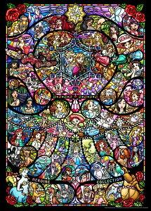 TEN-D2000-622 ディズニー ディズニー&ディズニー/ピクサー ヒロインコレクション ステンドグラス 2000ピース ジグソーパズル テンヨー