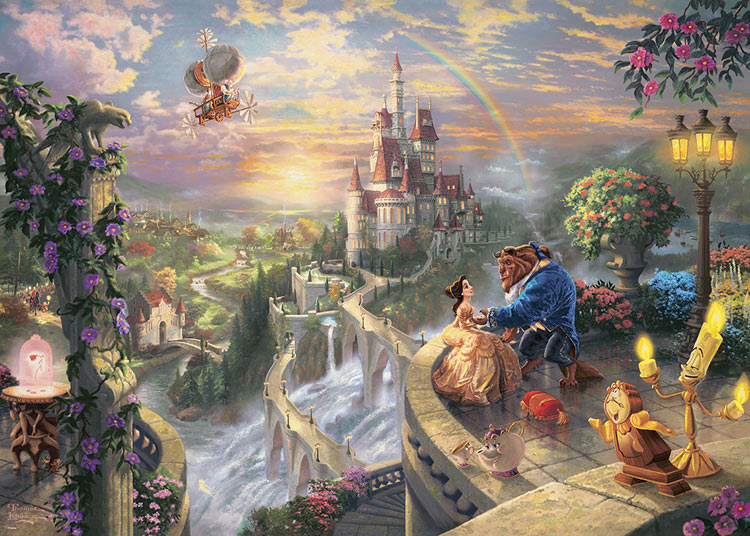TEN-D2000-624 ディズニー Beauty and the Beast Falling in Love (美女と野獣) 2000ピース ジグソーパズル [CP-D]