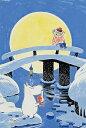 YAM-10-1303 ムーミン ムーミンとおしゃまさん -「ムーミン谷の冬」より- 1000ピース ジグソーパズル